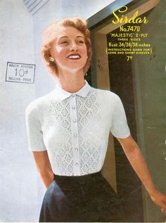70 best knitted shells sleeveless tops pattern vintage images on Vintage Crochet Patterns, Loom Knitting Patterns, Vintage Knitting, Knitting Tutorials, Stitch Patterns, Vogue Knitting, Sock Knitting, Knitting Machine, Free Knitting