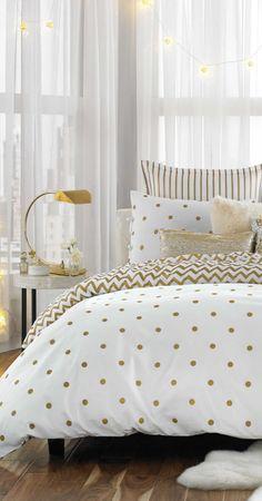 Gold Dot Bedding Gold Decor Bedroom Beddingbasics