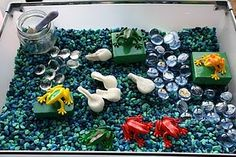 Frog Unit. Fantastic list of lessons, activities and sensory tub.