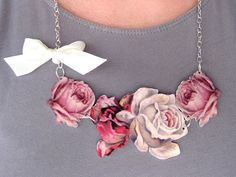 Gorgeous Shrinky Dink necklace via a contestant on One Month to Win it!