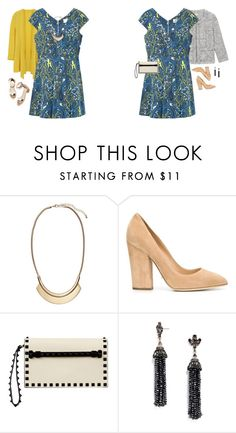 """Untitled #17497"" by hanger731x ❤ liked on Polyvore featuring H&M, Loeffler Randall, Sergio Rossi, Valentino, BaubleBar, women's clothing, women's fashion, women, female and woman"