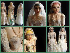 -Noivas,bonecas de madeira pintadas a mão por odila freire,