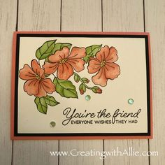 Card making ideas using the blended seasons bundle Send A Card, Wink Of Stella, Friendship Cards, Heartfelt Creations, Greeting Cards Handmade, Your Cards, Really Cool Stuff, Wedding Cards, Stampin Up