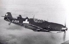 Swiss Air Force Messerschmitt Me 109 Me 109, Luftwaffe, Ww2 Aircraft, Military Aircraft, Swiss Air, Aviation Image, Ww2 Planes, Aircraft Design, Nose Art