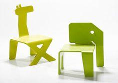 Animal kid's chairs by Elad Ozeri