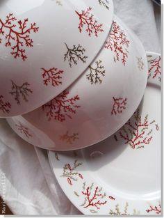 © Marimerveille - peinture sur porcelaine (cuisson haute température) service or