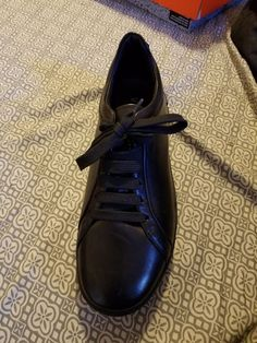 9e86fc55b62 all black versace shoes Eur size  41 NO SCUFFS  fashion  clothing  shoes