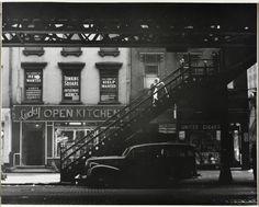 Third Avenue, New York City (Under the Elevated), 1948 © Godfrey B. Frankel