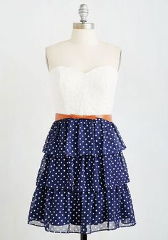 The Way You Sway Dress. Drift onto the scene like a summer breeze in this fun, tiered frock! #blue #modcloth