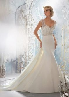 Mori Lee 1954 Fit and Flare Wedding Dress