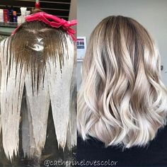 (Balayage application and finished) I used @oligopro with 30vol a splash of @olaplex processed 35 minutes no heat✅ shadowed root with @redken5thave and glaze