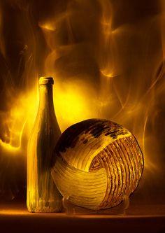 Desert sand storm   light painting, long exposure, fine art, still life, gold, orange, wine