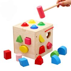 Toys & Hobbies Enthusiastic Puzzle Intelligence Boxjingle Ball Knock Wooden Combo Seventeen Intelligence Box Shape Paired Educational Toys Cube Color Learn