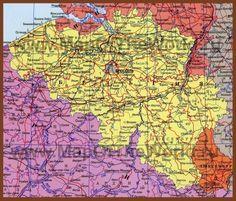 Подробная карта Бельгии на русском языке