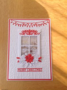 Crafters companion window die and embossing folder, Christmas card