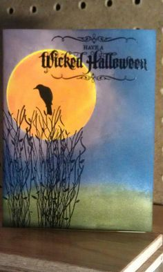Halloween card painting