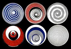 Marcel Duchamp - Rotoreliefs - Le premier artiste à utiliser ces objets en tant qu'œuvres d'art: Marcel Duchamp. Et ses rotoreliefs. Il sait que ça va pas passer comme une œuvre d'art, vendu dans une boîte, à voir et à regarder. Il se fait financer par un galeriste pour revendiquer l'œuvre d'art. Et se présente au Concours l'Epine (meilleures inventions).