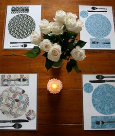 Learning to Set the Table: Homemade Placemats (Tutorial by Mariah Bruehl of Playful Learning - at Simple Kids)