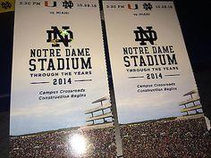 #tickets Notre Dame Fighting Irish Football vs Miami Hurricanes Tickets 10/29/16... please retweet