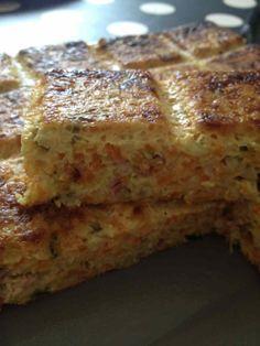 Quiche sans pâte carottes, courgettes et bacon