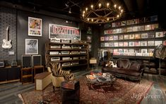Even though it is a store, it would be  cool decor theme....The Rock 'n' Roll Home - Gilt Home