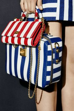 Go small with a mini-purse for your essentials, and let bold, graphic lines energize even the most basic bag.