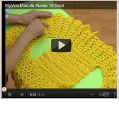 I would love to make one of these round bolero jackets. I just saw this and it has an accompanying video (which I have not watched yet). I see another project on the horizon! Crochet Bolero Pattern, Gilet Crochet, Crochet Jacket, Crochet Shawl, Crochet Stitches, Crochet Patterns, Crochet Shrugs, Crochet Sweaters, Sewing Patterns