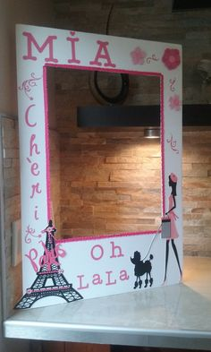 Barbie in Paris Photo Booth Frame OH LA LA by mariscraftingparty