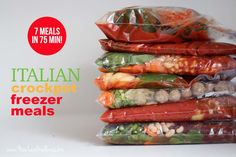 Kelli from New Leaf Wellness shows us how she made 7 Italian Crockpot Freezer Meals in 75 Minutes. Here's what she made: Lasagna Soup Stuffed Peppers Minestrone Soup Wedding Soup Italian-Style Pot Roast Spicy Italian Sausage and Peppers Sausage, Spinach, …