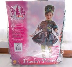 New Rubie's Frankie's Princess Costume Dress Child Small 4-6 Frankenstein #Rubies #CompleteOutfit