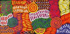 My Mother's Dreaming (BM-1008) by Betty Mbitjana http://merindahart.com.au/artists/betty-mbitjana