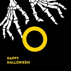 Branded Halloween animation from Big Drop.  #halloween #halloween2016 #halloweentime #halloweennight #bones #skeleton #digitalagency #creativeagency #graphicdesign #brandcolors #black #yellow #brand #art #digitalart #poster #typography #typo #type #letter #identitydesign #identity #branding #illustration #animation #2danimation #flat #gif #logo #logotype