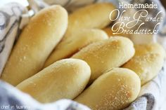 Olive Garden Breadsticks - Made these tonight and honest to goodness they were the closest thing to Olive Garden Breadsticks I have ever had! Yum!