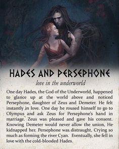 Persephone Greek Mythology, Hades Und Persephone, Greece Mythology, World Mythology, Greek And Roman Mythology, Greek Gods And Goddesses, Greek Mythology Quotes, Hades Underworld, Goddess Of The Underworld