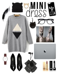 """""""Graphic & monocrome"""" by olga-scobioala ❤ liked on Polyvore featuring Black, Skullcandy, WithChic, Yves Saint Laurent, Marc Jacobs, DKNY and STELLA McCARTNEY"""