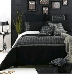 Bedroom black and white