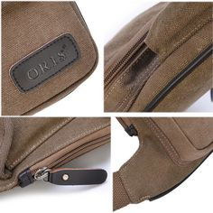 ded71c36dc5e Item Type Crossbody Bag Color Khaki Black Gray Army Green Coffee  Material Oxford Closure Zipper Front Pocket(one has a hasp and cover one  has a velcro and ...