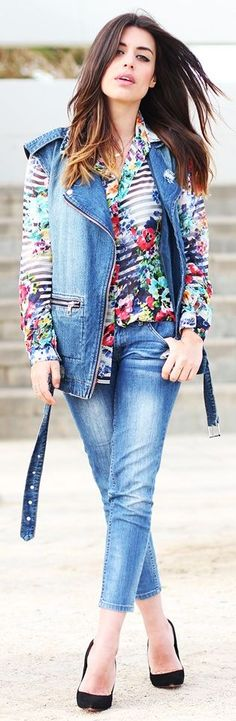 I'm not usually a floral gal, but I'm kinda digging this shirt which combined them with stripes!