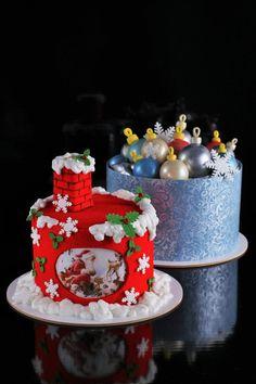 Present Cake, Nice Cake, Holiday Cakes, Christmas Treats, Amazing Cakes, Fondant, Cake Recipes, Muffin, Birthday Cake