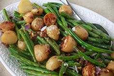 Potatoes, Green Beans, with Crispy Prosciutto is wonderful spring time side. Use this when making a pork loin or a steak!