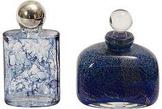 Marbleized Glass Bottles