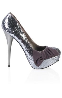 chunky glitter platform pump with side bow  $27.37    special offer: 25% off shoes