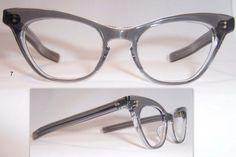 Smoke Grey 1950s Cat Eye Glasses - Vintage Glasses