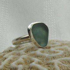 Sea Glass Ring - Beach Glass Jewelry - Seaglass - Teal - Aqua. $75.00, via Etsy.