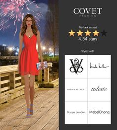 Covet Fashion Game. Look: Independence Day Party