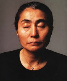 Yoko Ono by Annie Leibovitz in 1981.  This was the portrait taken of Yoko following the death of John Lennon. Leibovitz also took the last photos of Lennon before his murder in New York City on December 9, 1980.