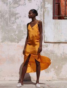Seasonal Color Analysis, Silk Slip, Orange Dress, Fall Looks, Fall Trends, Silk Dress, Beautiful Dresses, Summer Outfits, Fashion Looks