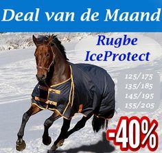 Deal v/d Maand Van € 99,- voor € 59,95!  Deze outdoordeken is van hoge kwaliteit en zeer geschikt voor de herfst, winter en de koudere dagen van het voorjaar. Deze winter deken houdt het paard droog, lekker warm en heeft een zeer goede pasvorm. De binnenzijde van de deken is gevoerd met nylon en zo krijgt u dus geen last meer van lelijke kale schuurplekken op het paard.  http://happyhorsedeal.nl/deal-van-de-maand.html