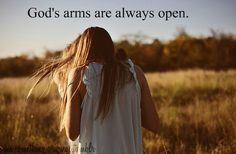 God loves us with arms open wide, run into them and find the embrace that makes us whole!