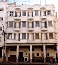 Casablanca,Morocco  How completely fabulous are those balconies?!